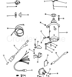 1980 mercury outboard 40 eh 1040530 starter motor rectifier and wiring [ 1750 x 2236 Pixel ]