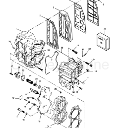 1990 force outboard 50 h0507a90a a cylinder block head and exhaust [ 2177 x 2799 Pixel ]