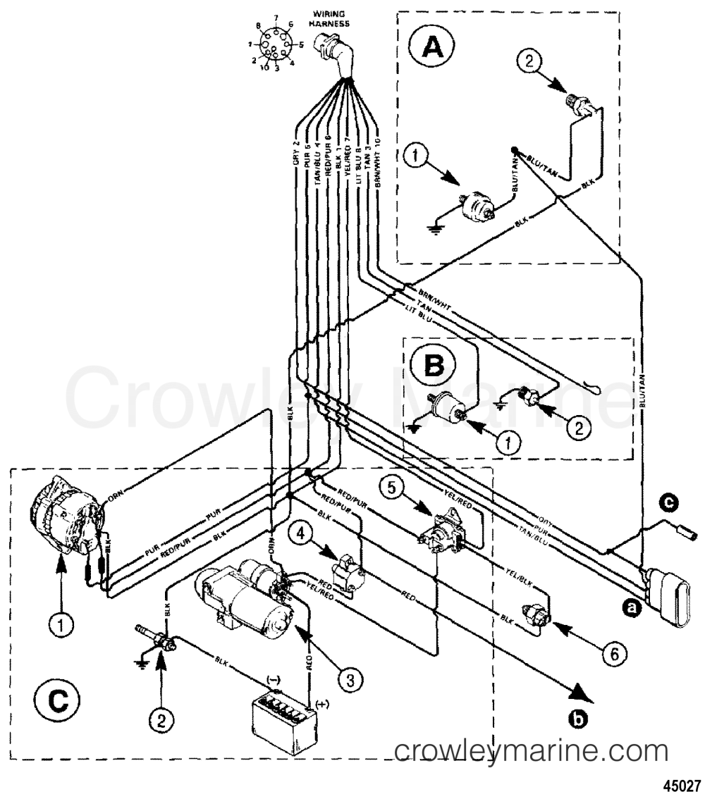medium resolution of 1994 mercury inboard engine 5 7l tbi 350mag ski 357k111gs wiring