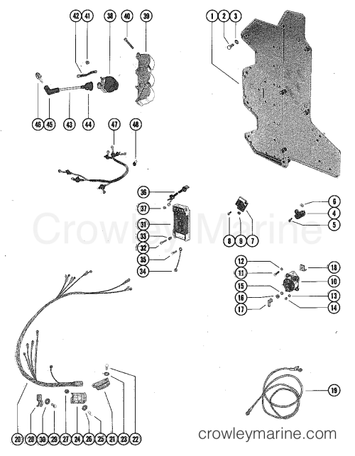 small resolution of 1980 mercury outboard 140 elpt 1140620 wiring harness switch box and