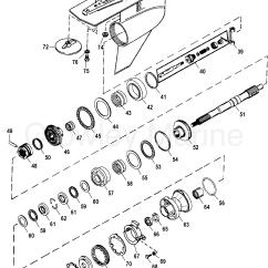 Mercruiser Alpha One Parts Diagram Ryobi Pressure Washer Gear Housing Prop Shaft Counter Rotation 1996