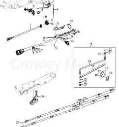 various years rigging parts steering systems and components 1994 1994 up tiller handle [ 1865 x 2400 Pixel ]