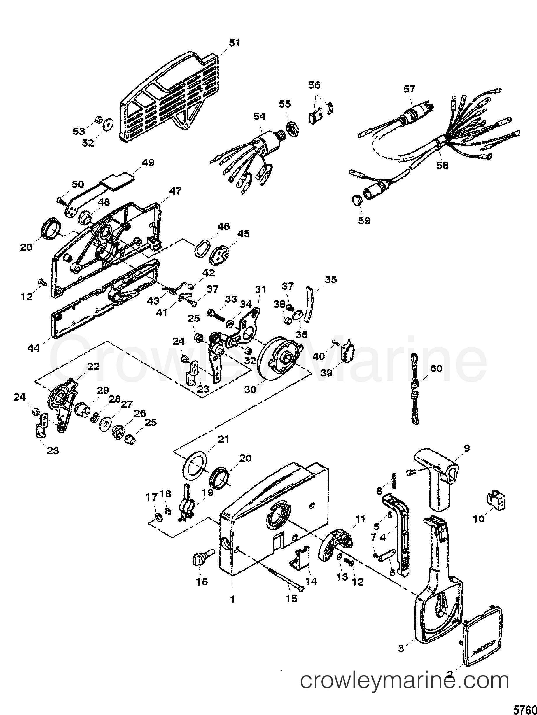 Mercruiser Quicksilver Throttle Control Diagram