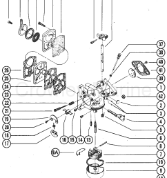 1976 mercury outboard 50 1500206 carburetor assembly section [ 1108 x 1394 Pixel ]