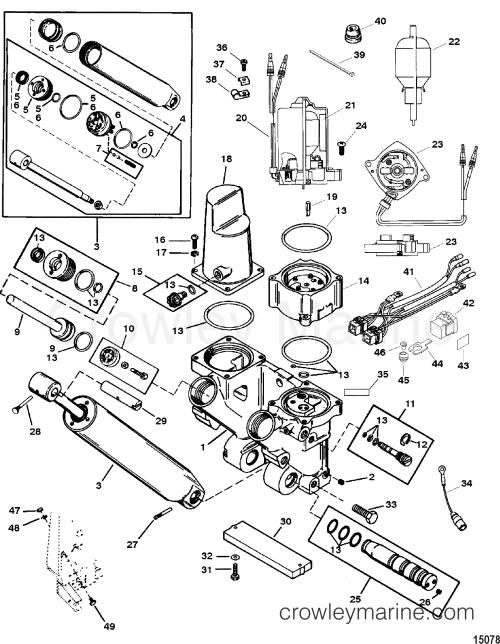 small resolution of power trim and tilt kit 826729a4 various years rigging parts trim mercury trim wiring diagram mercury trim diagram