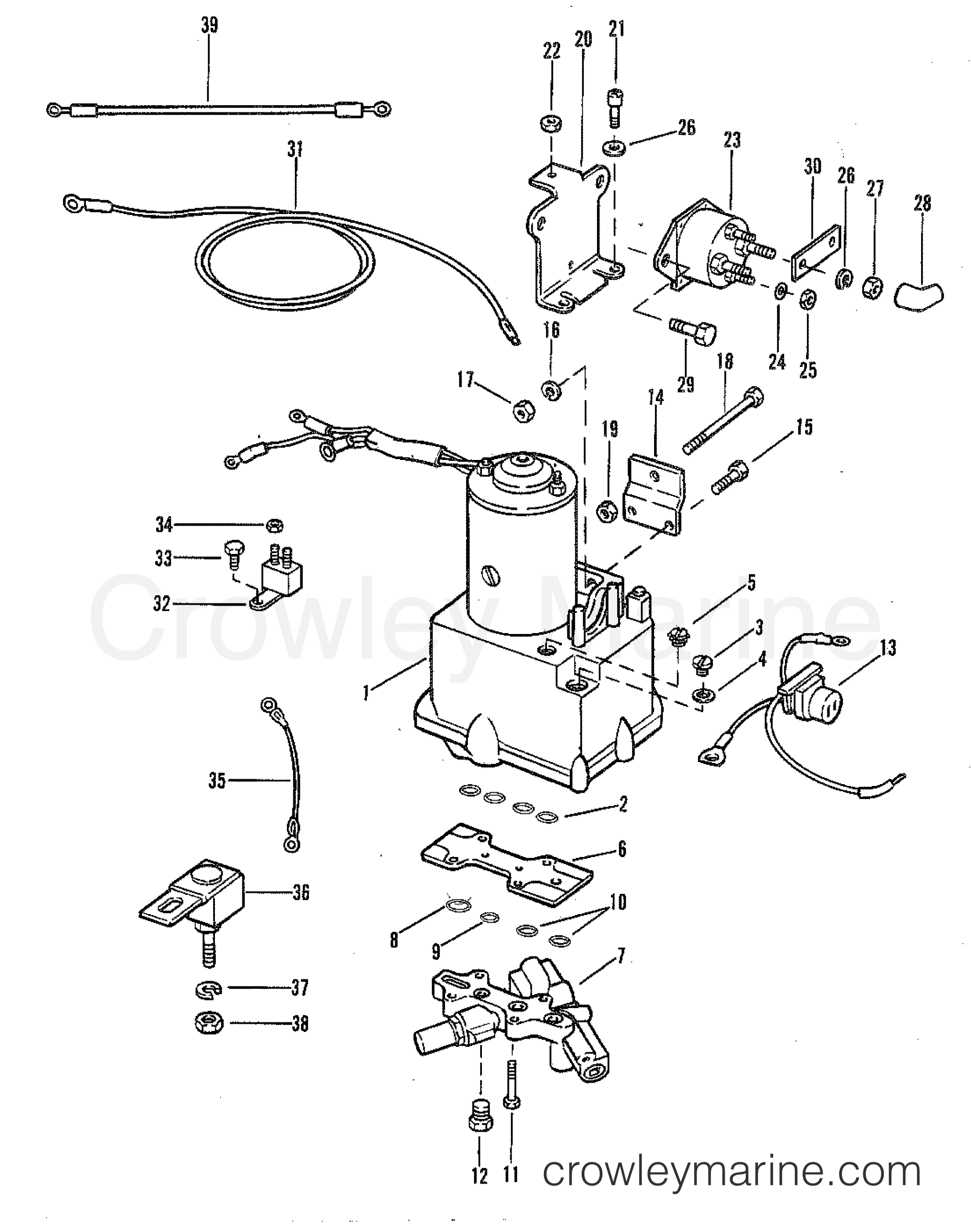 Mercury Outboard Power Trim Wiring Diagram : mercury, outboard, power, wiring, diagram, POWER, COMPONENTS, (WITH, CIRCUIT, BREAKER, FUSE), Mercury, Outboard, [ELPT], 1090620, Crowley, Marine