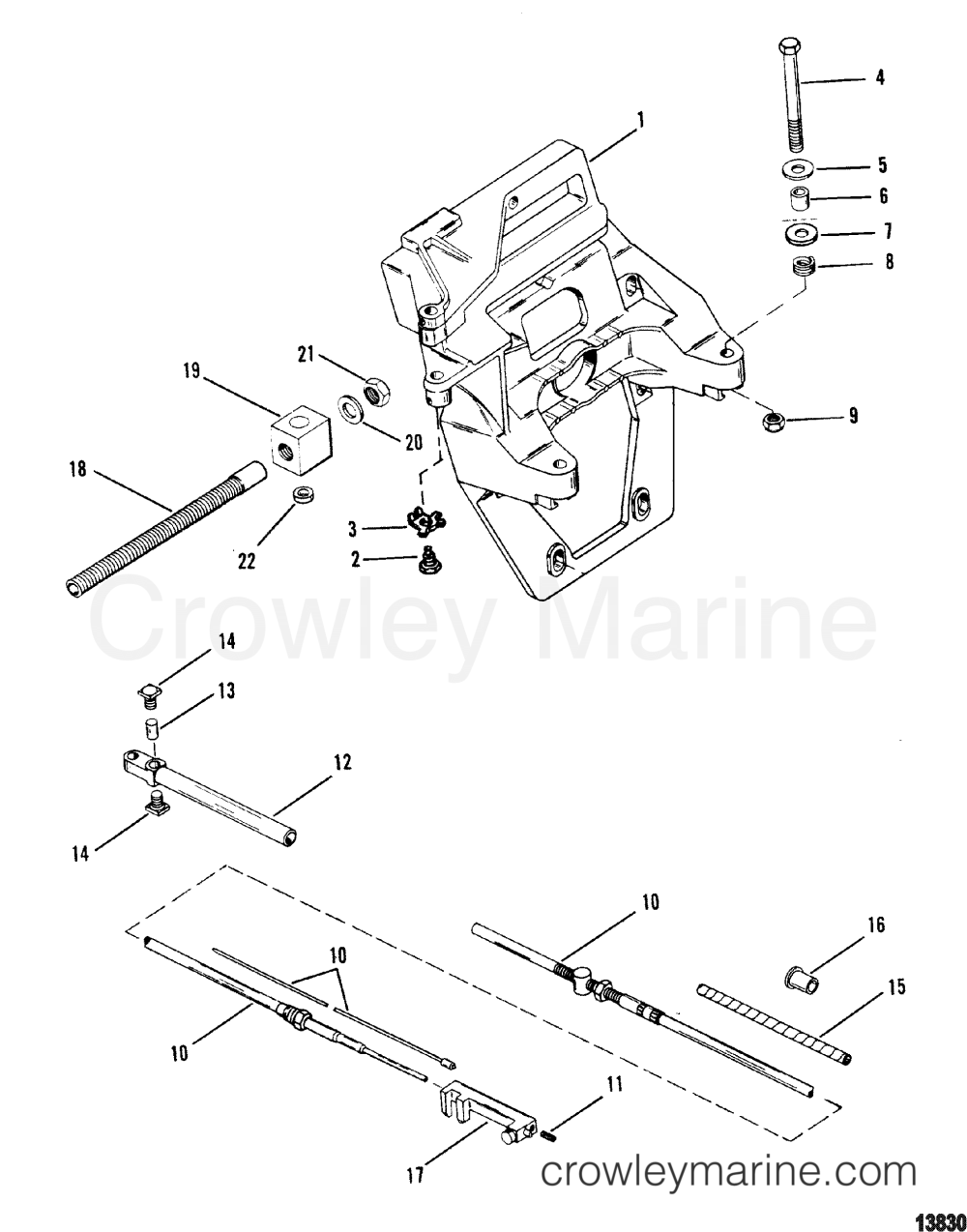 medium resolution of transom plate and shift cable 1990 mercruiser alpha 1 65 1 full hydraulic steering mercruiser inside transom mercruiser transom plate diagram