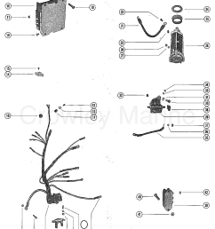 starter motor starter solenoid rectifier u0026 wiring harness serialserial range mercury outboard 1150 [ 1098 x 1392 Pixel ]