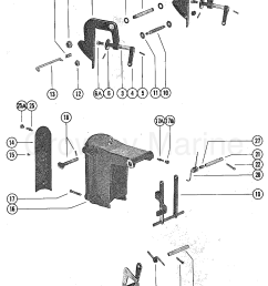 1976 mercury outboard 4 m 1040206 clamp and swivel bracket assembly section [ 1093 x 1405 Pixel ]