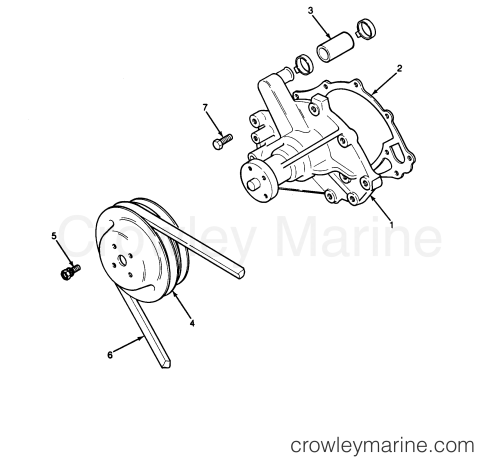 small resolution of all years u s marine inboard 460 inboards all models engine water pump and pulley