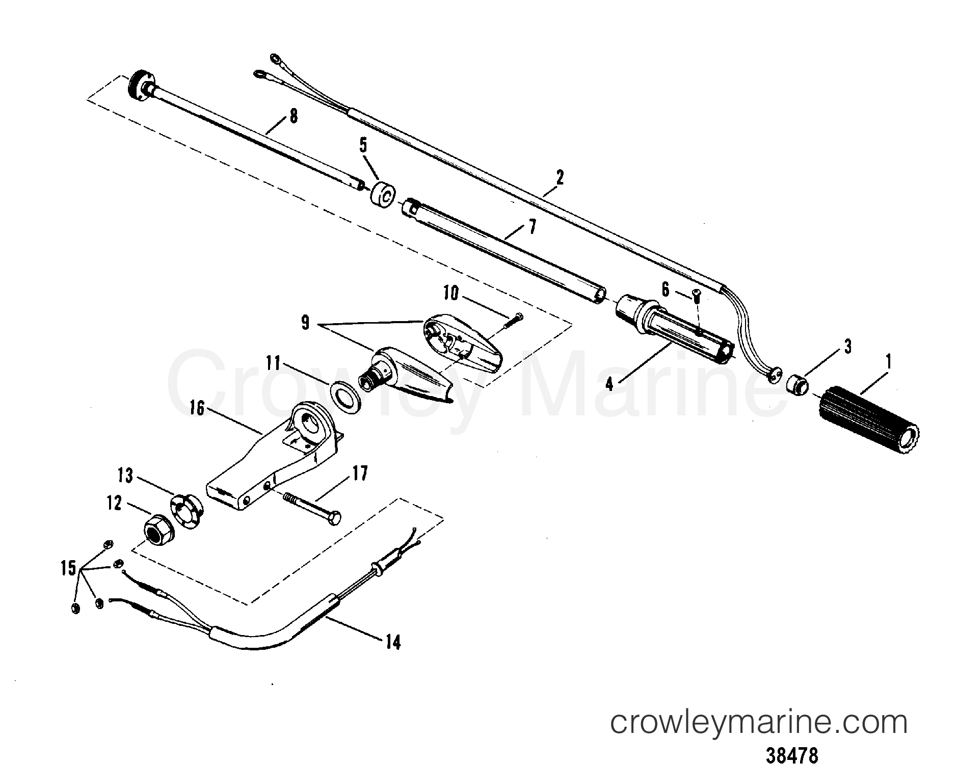 Steering Handle Assembly Mariner Manual
