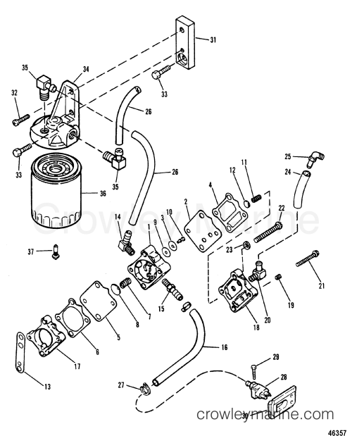 small resolution of 1989 mercury outboard 200xri 1200453gd fuel pump and fuel filter section