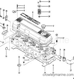 cylinder head and rocker cover 1983 mercruiser 470 04707333 mando marine alternator wiring diagram 1983 mercruiser [ 1914 x 1853 Pixel ]
