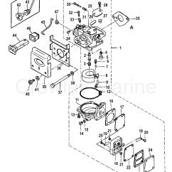 25 Hp Johnson Outboard Parts Diagram Wiring For Led Light Bar Switch Carburetor 1990 Mariner 4 Ml 7004211sk