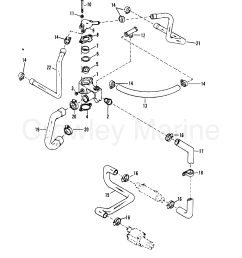 1988 mercury inboard engine 5 0l carb 3501111as thermostat housing standard [ 1879 x 2379 Pixel ]
