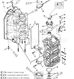 cylinder block and end caps 1996 mercury outboard 150 mercury 115 wiring diagram mercury carburetor diagram [ 1928 x 2476 Pixel ]
