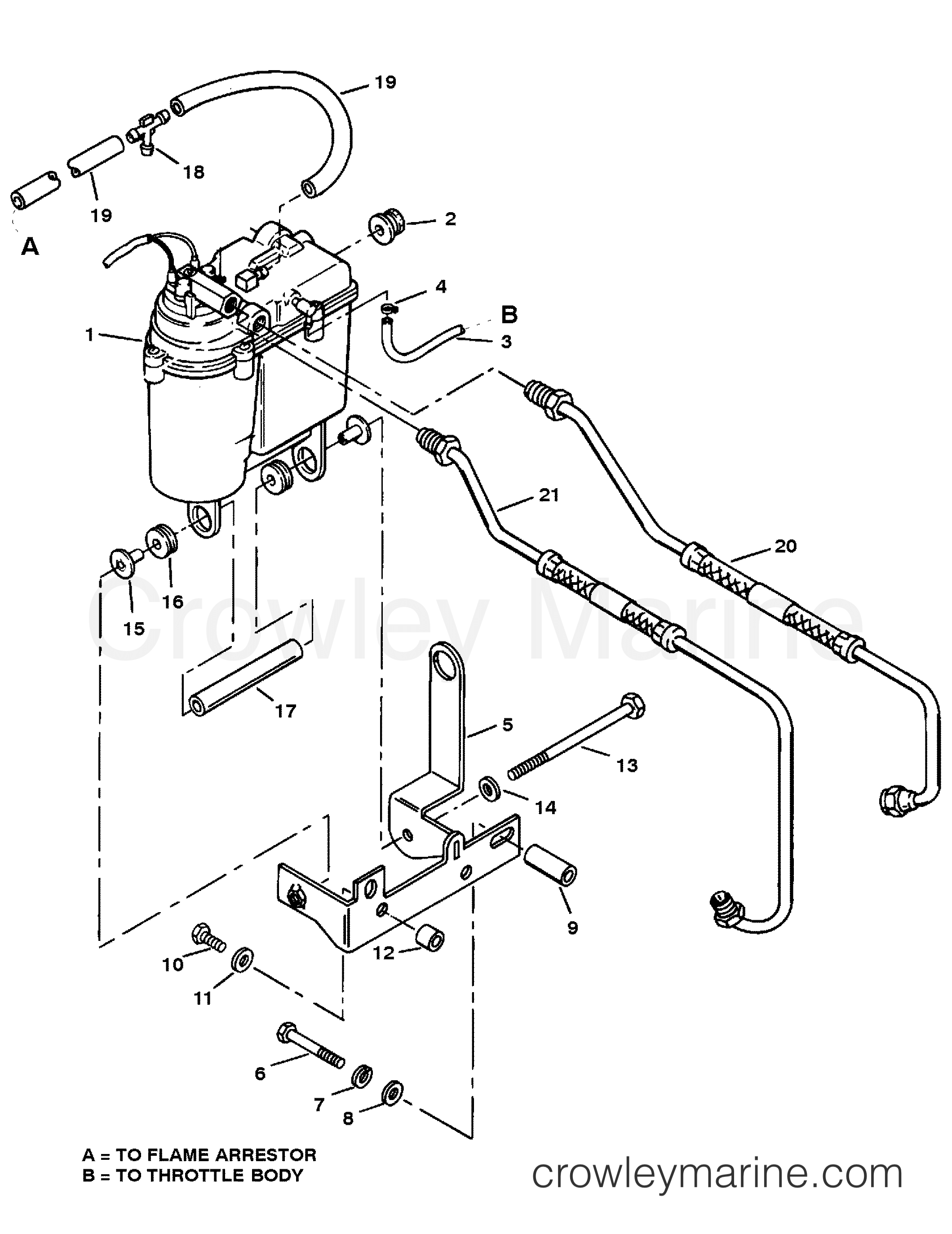 Vapor Separator Tank And Fuel Lines
