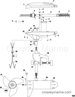 COMPLETE TROLLING MOTOR(MODEL ET44) (12 VOLT)  1999 MotorGuide 12V [MOTORGUIDE] 9ET44BDVU