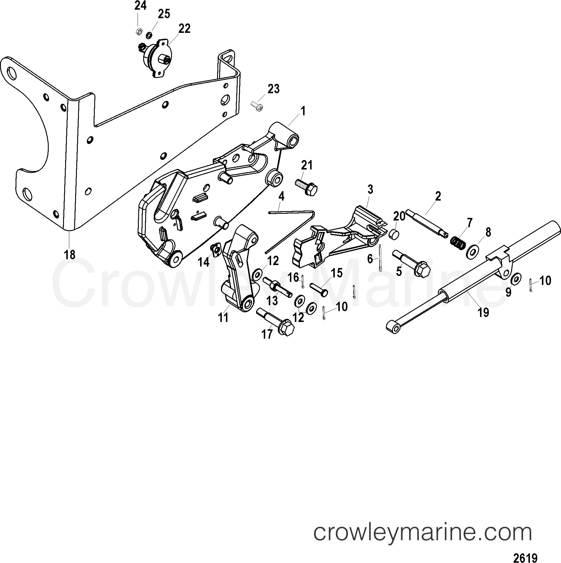 SHIFT BRACKET(DESIGN II-WITH HAIRPIN CLIPS OR 4 COTTER
