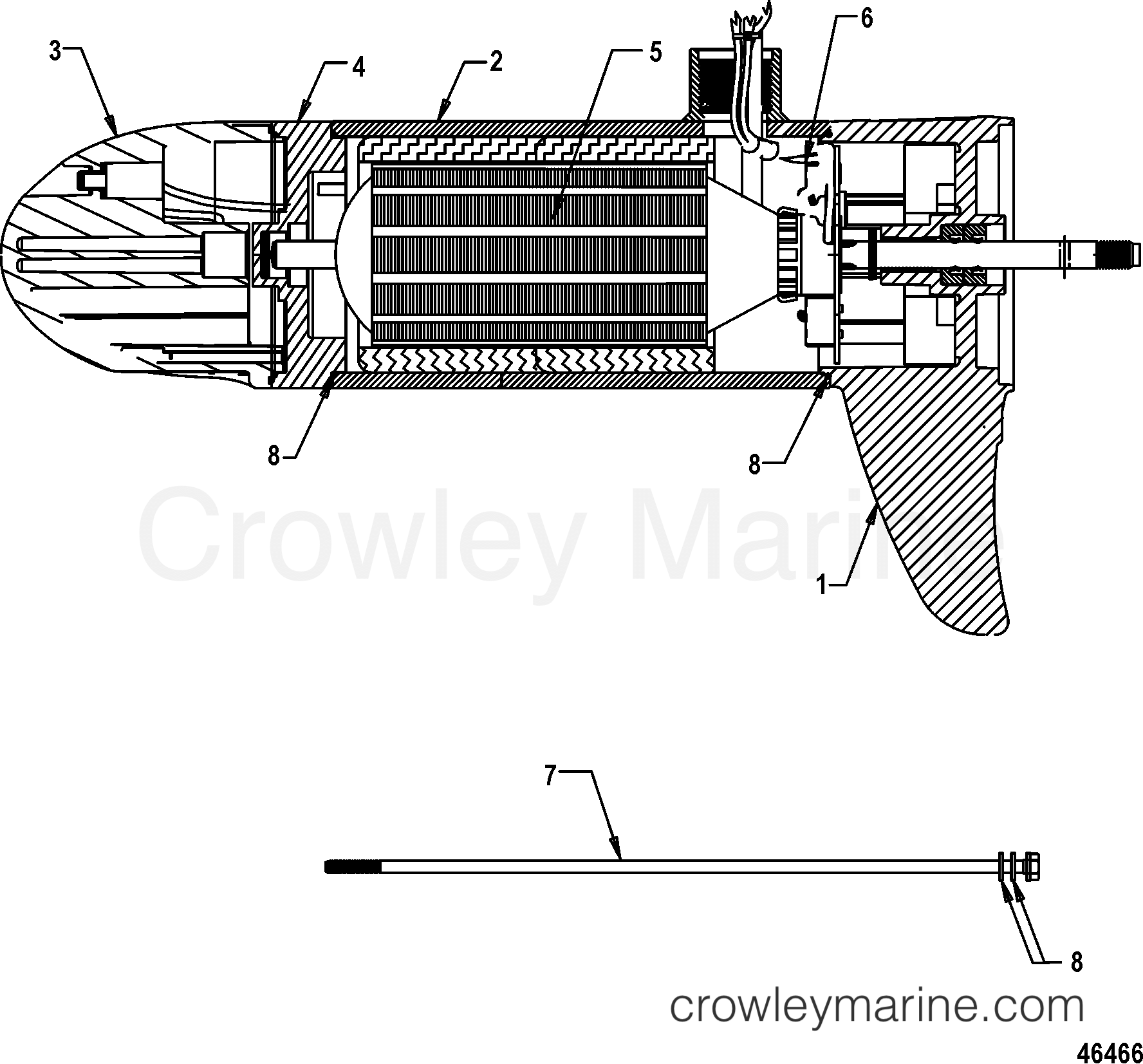 Lower Unit Assembly Fw80