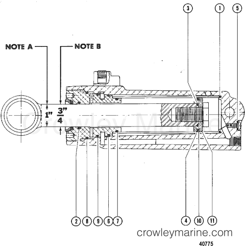 small resolution of 1976 mercury outboard 115 elpt 1115626 power trim cylinder repair kits section