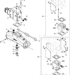 1998 mercury inboard engine 350 mag mpi horiz 33500028s exhaust manifold and [ 1935 x 2327 Pixel ]