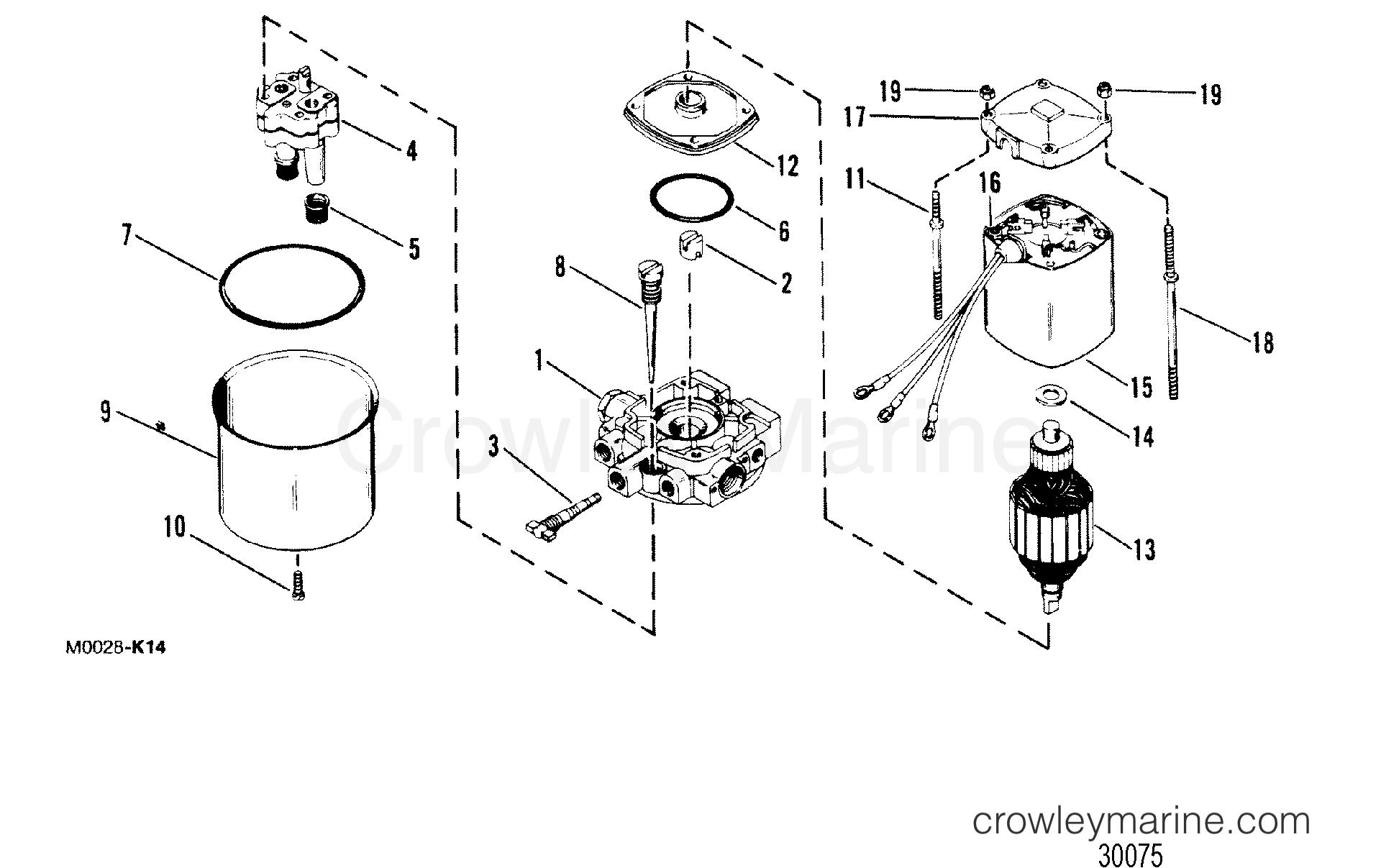 Hydraulic Pump Oildyne Pump Metal Reservoir