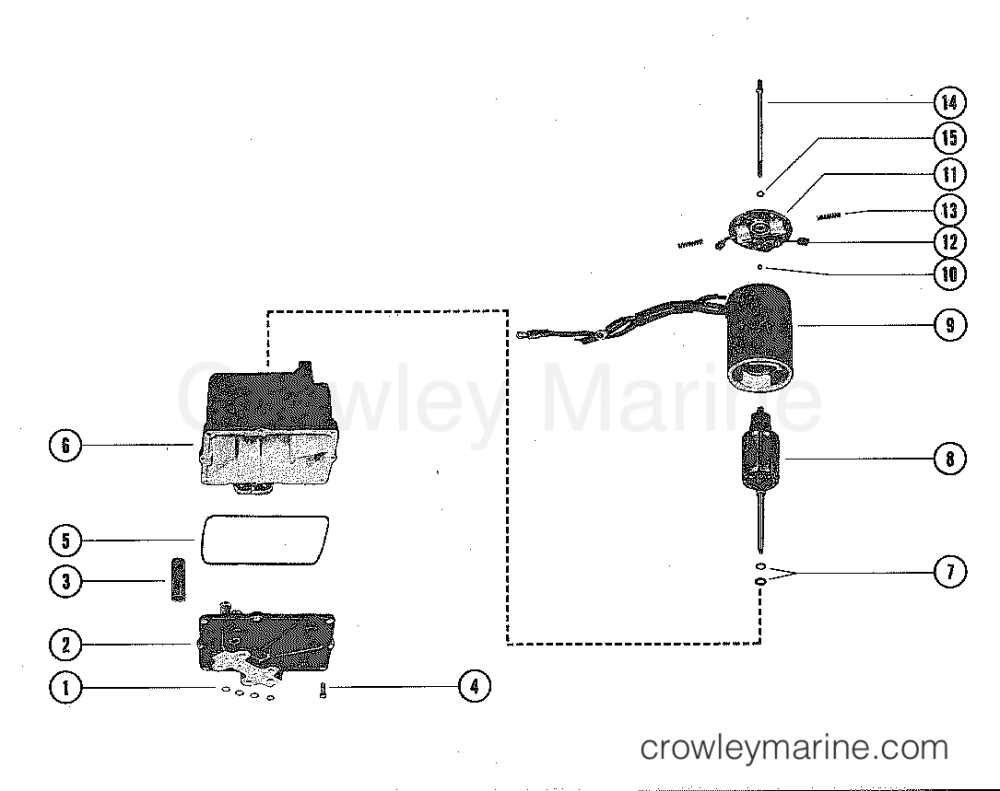 medium resolution of 1977 mercruiser 228 2228107 hydraulic pump assembly complete section