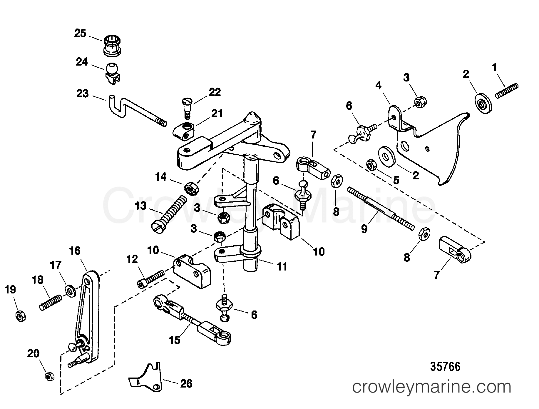 Shift And Throttle Linkage