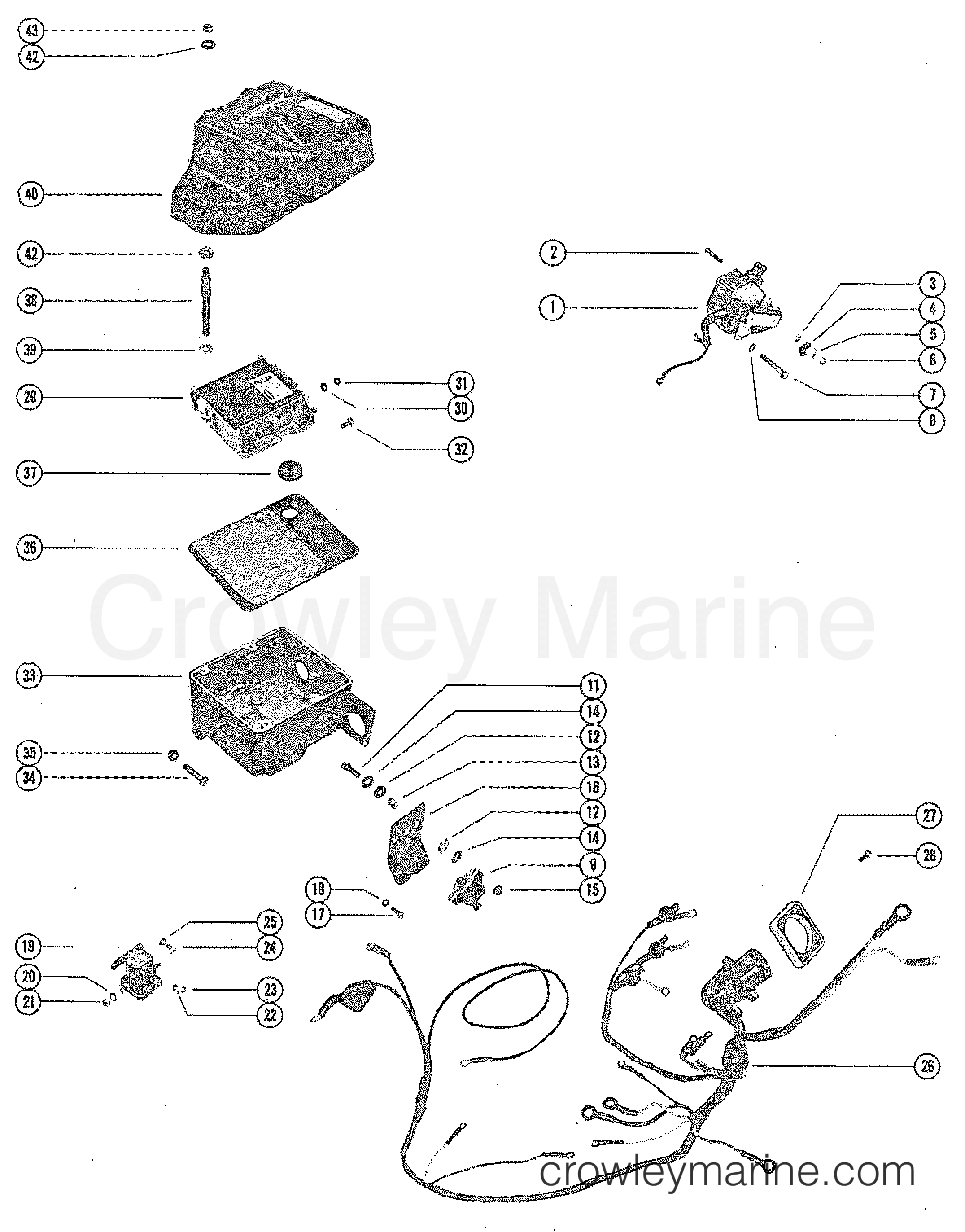 Wiring Harness Switch Box And Ignition Coil