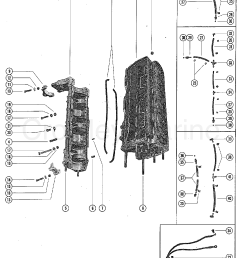 1976 mercury outboard 115 elpt 1115626 cylinder block and crankcase assembly section [ 1820 x 2393 Pixel ]
