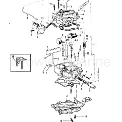 Mercruiser Water Pump Diagram Pioneer Subwoofer Wiring 3 7 Engine Online Carburetor Rochester 180 190 7l Lx 1985 170