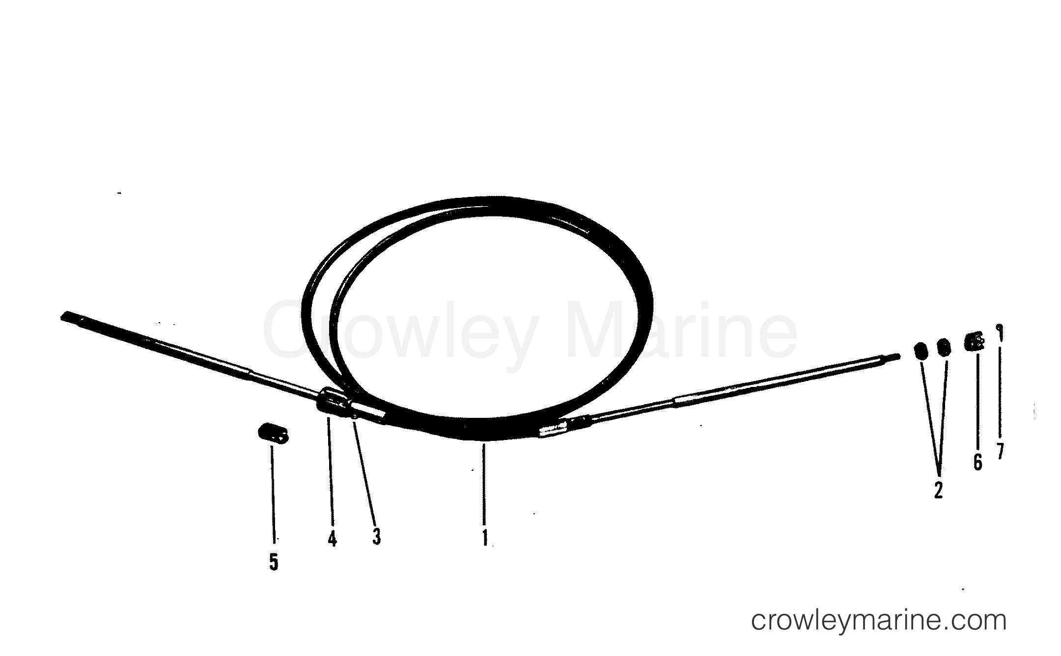 Ride Guide Steering Cable