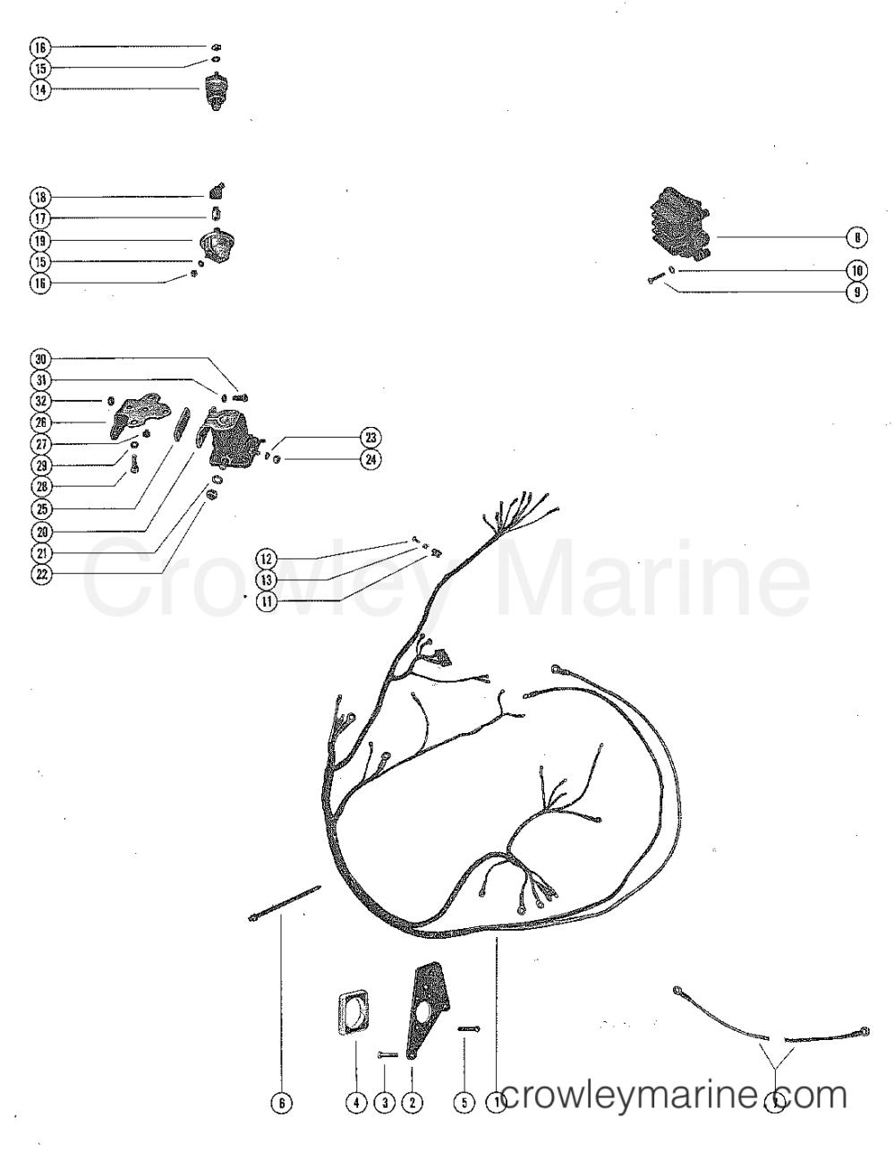 medium resolution of serial range mercruiser 160 gm 250 i l6 1967 1969 2048022 thru 2770031