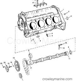 1987 mercruiser 260 02602347 cylinder block and camshaft roller lifters section [ 1920 x 2172 Pixel ]