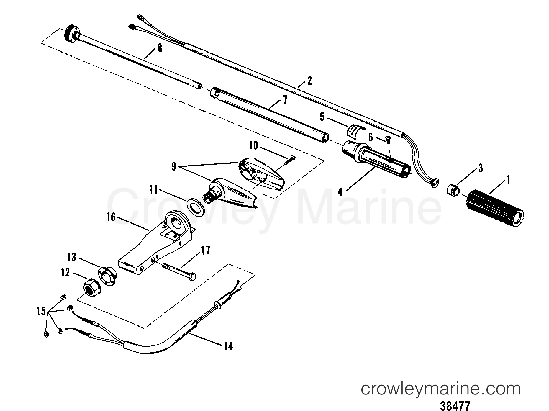 Steering Handle Assembly Mercury Manual