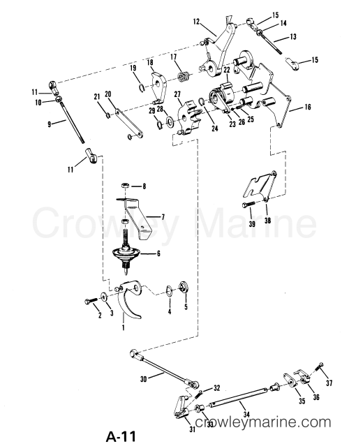 small resolution of serial range mercury outboard 18 6416713 thru 6443972 usa throttle and shift