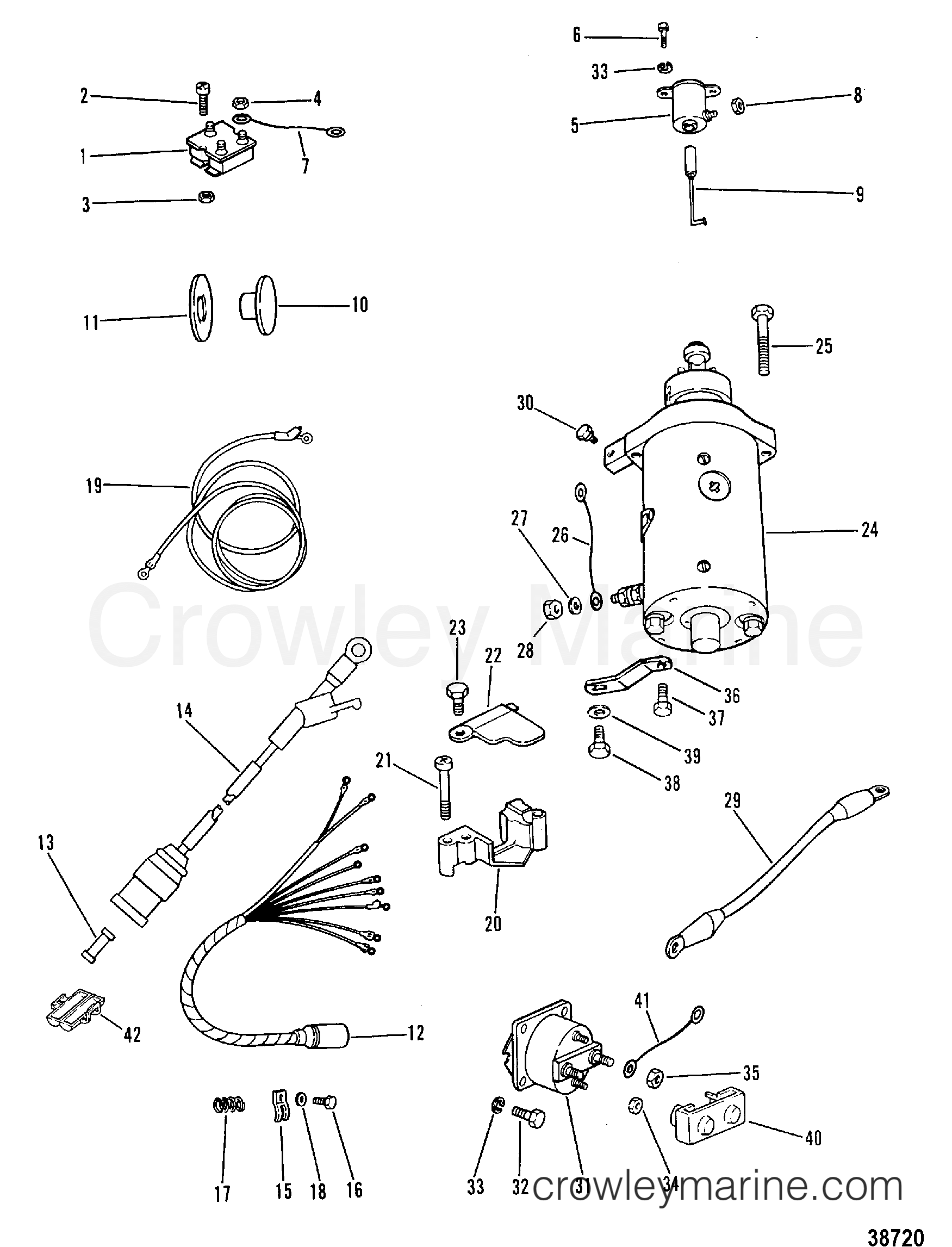 STARTER MOTOR, RECTIFIER AND WIRING HARNESS (ELECTRIC