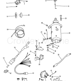 1987 mercury outboard 35 elo 1035717 starter motor rectifier and wiring [ 1751 x 2293 Pixel ]