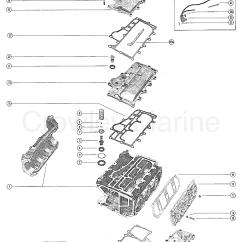 1975 Evinrude 70 Hp Wiring Diagram Kubota Ignition Switch Cylinder Block And Crankcase Components Mercury