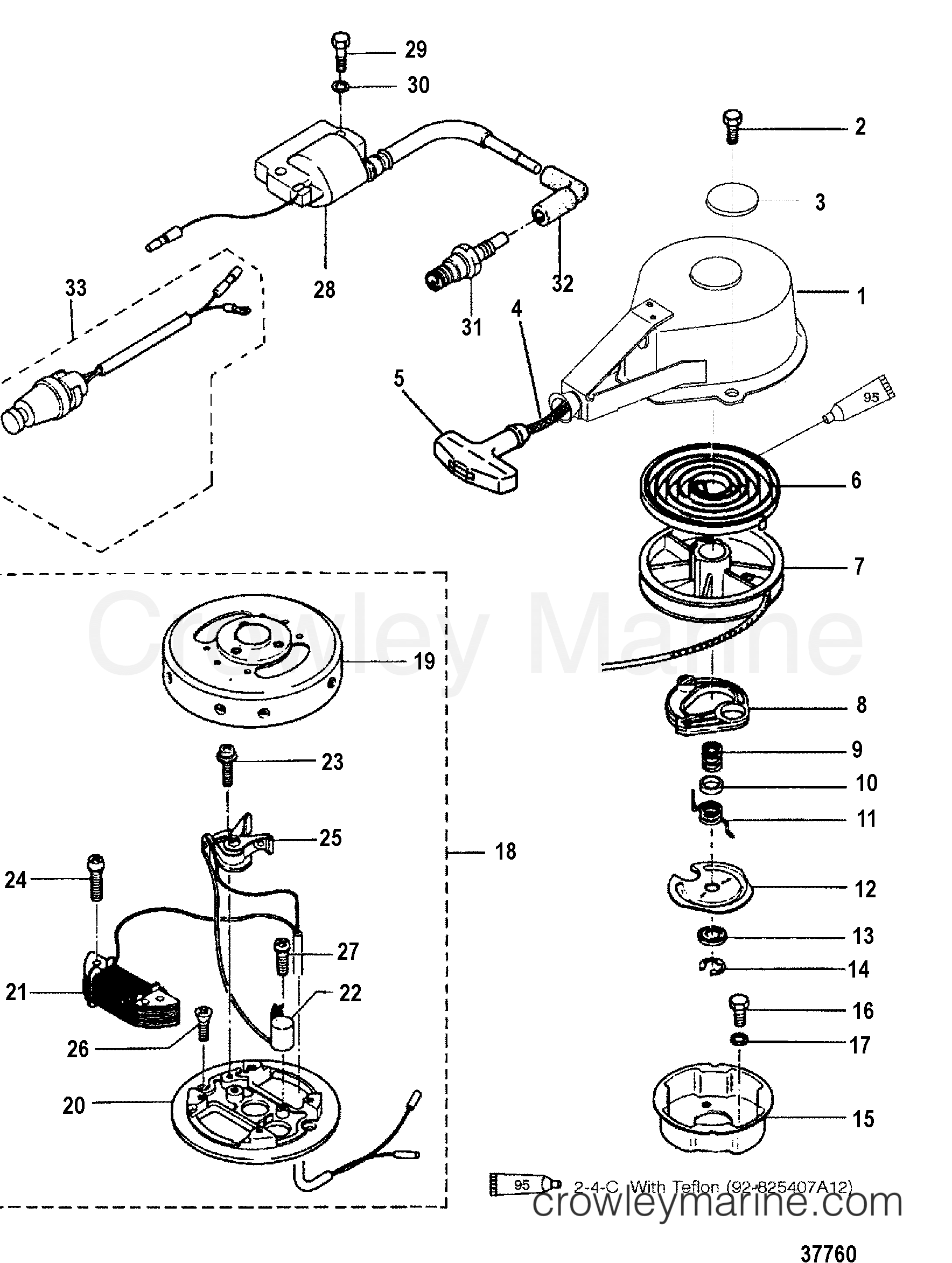 RECOIL AND IGNITION COMPONENTS(BREAKER POINT IGNITION