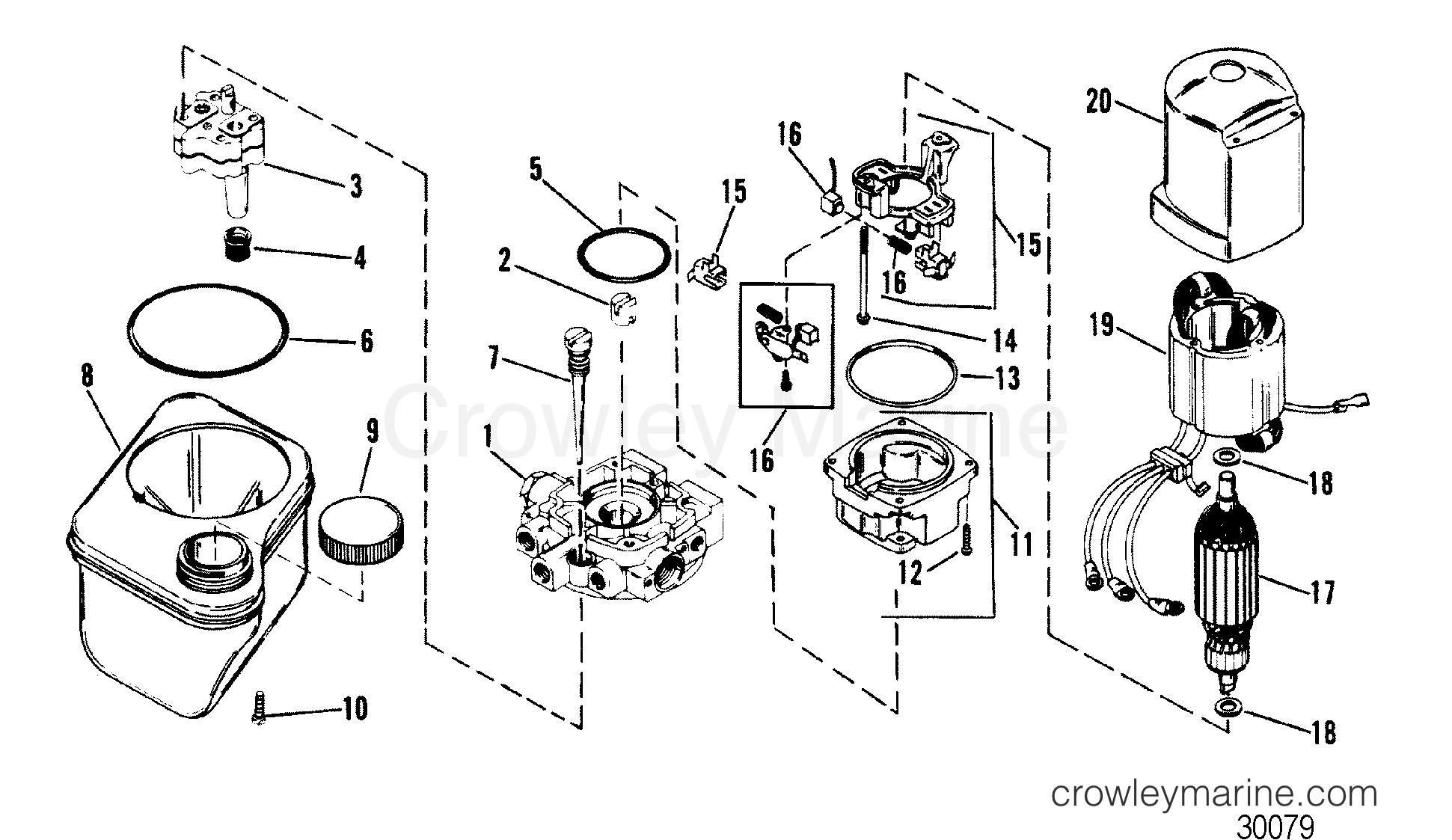Hydraulic Pump Oildyne Pump Plastic Reservoir
