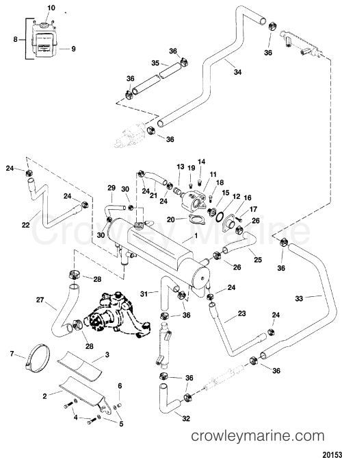 small resolution of closed cooling system 8 2l mpi 1998 mercury inboard engine 454 454 engine cooling system diagram