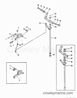 Mercury Quicksilver Throttle Control Diagram, Mercury