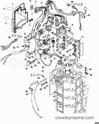 Outboard Motor Powerhead Diagram, Outboard, Free Engine