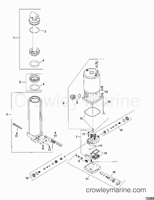 Various Years Rigging Parts Trim / Tilt / Lift Systems and