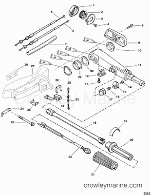 Outboard Motor Steering Accessories Mercruiser Sterndrive