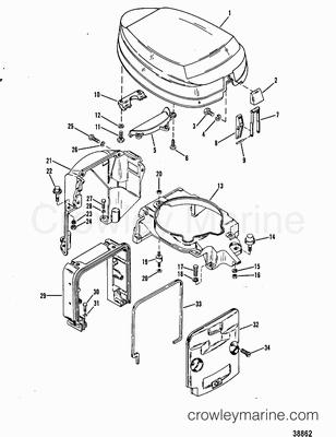 Remove Mercury 115 Engine Cowling