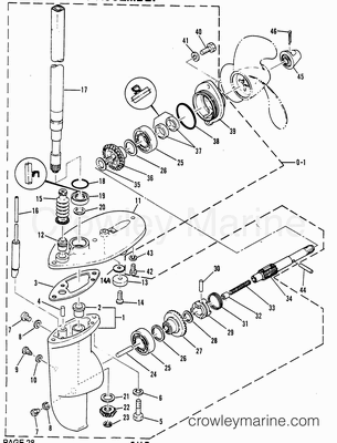 1986 25 H.p Yamaha Outboard Gearshift Linkage Parts Manual