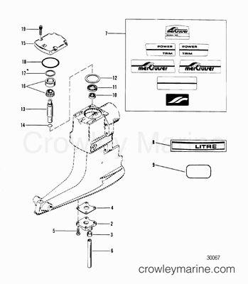 Mercruiser Upper Unit Diagram, Mercruiser, Free Engine